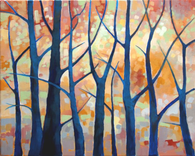 Autumn in the Wood. Original art by Richard Carr