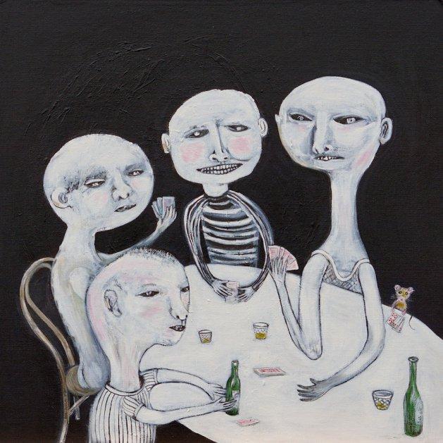 Poker Night. Original art by Sue Wright