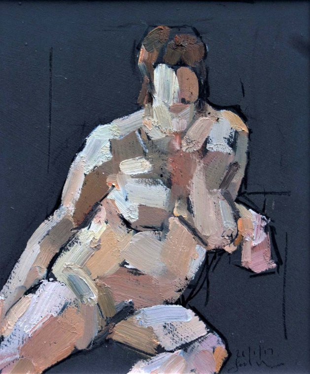 Study of the Female Nude -Life Study  No 58. Original art by Ian McKay