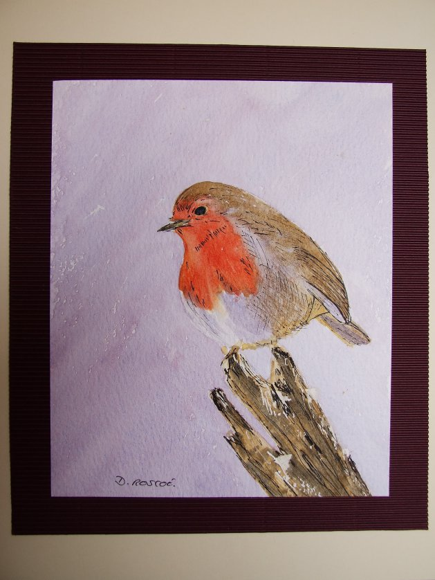 Robin. Original art by Denise Roscoe