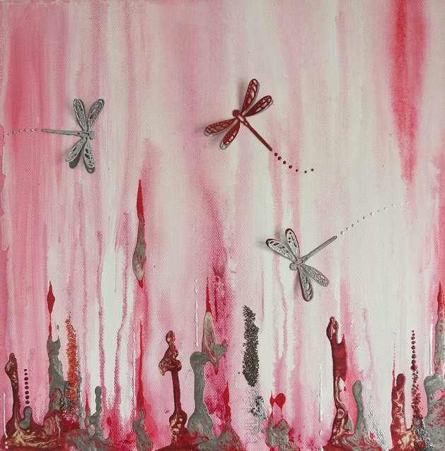 Dragonfly Dance. Original art by Tina Ashton