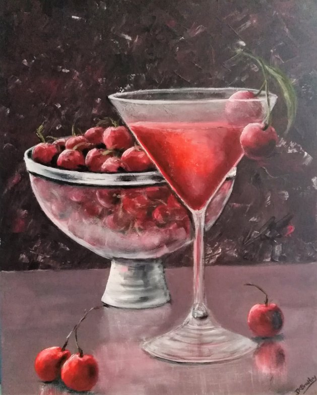 Cherry Brandy. Original art by Jennifer Bratby