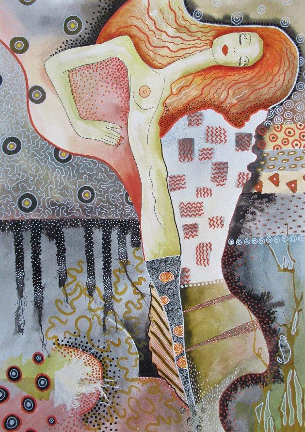 Water Snakes 1. Original art by Beatrice Margaret