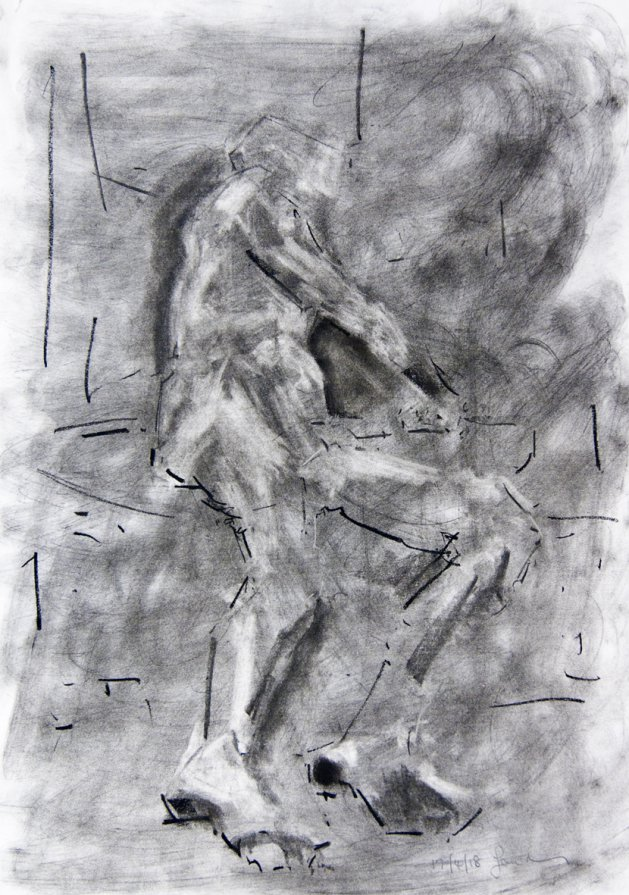 Study of the Male Nude -Life Drawing No 301. Original art by Ian McKay