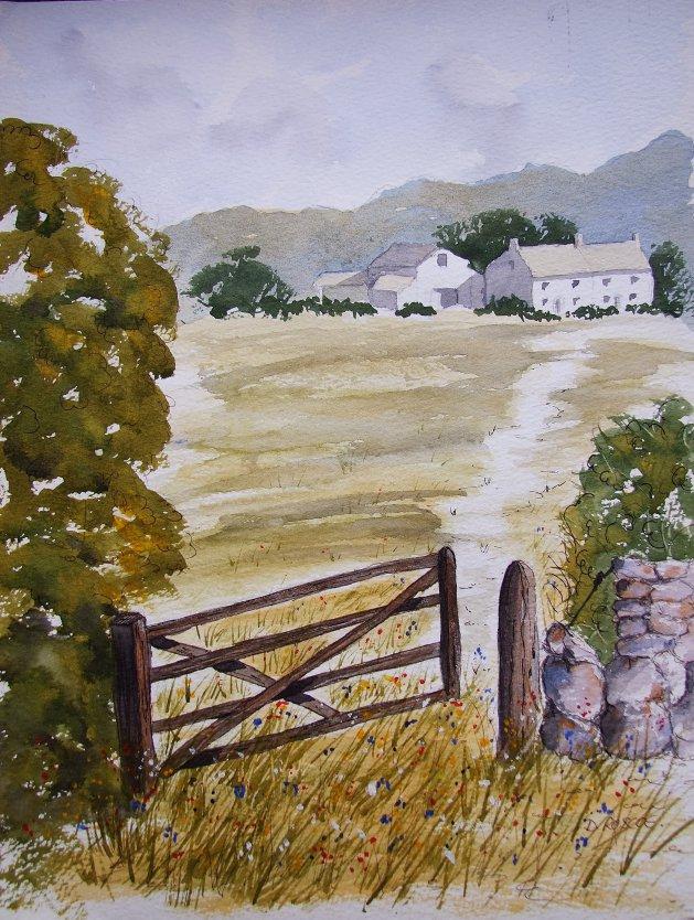 The Gate. Original art by Denise Roscoe