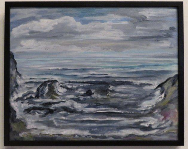 Aberdeenshire coast. Original art by Claire Sullivan