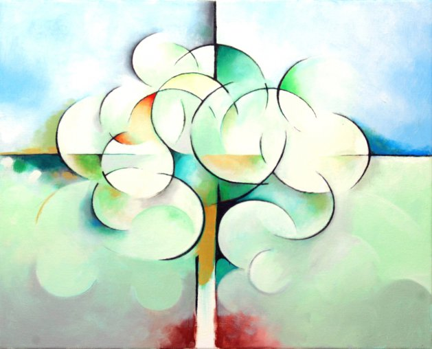 Curvy-Linear Tree. Original art by Richard Carr