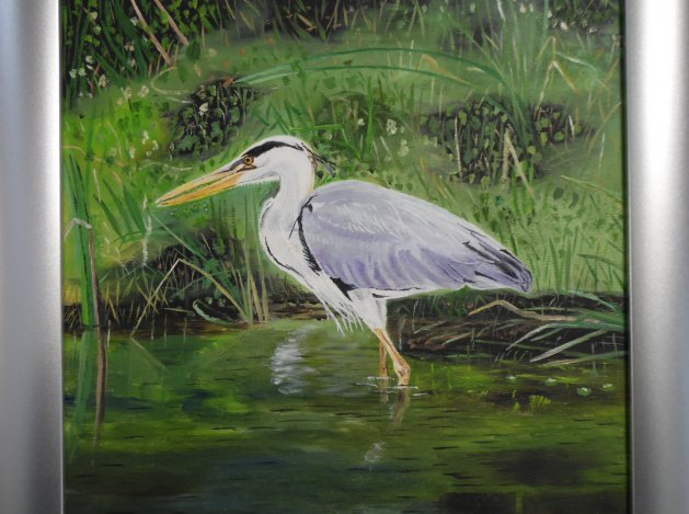 Heron. Original art by Philip Smith