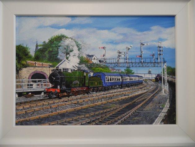 G.W.R.Truro Steam Train. Original art by Philip Smith