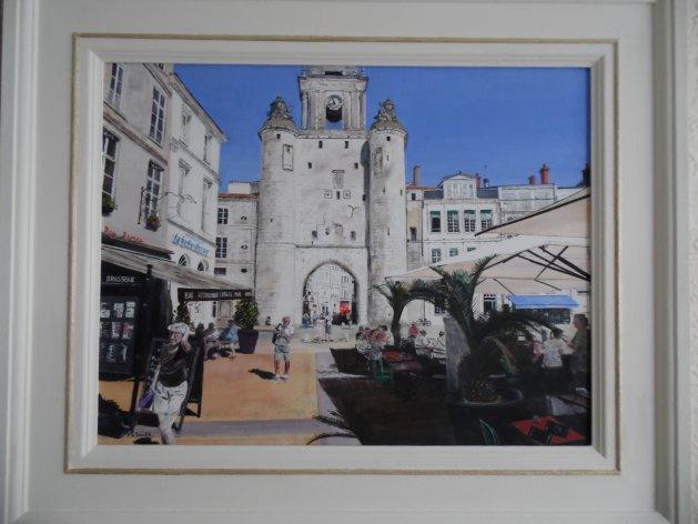La'Rochelle,France. Original art by Philip Smith