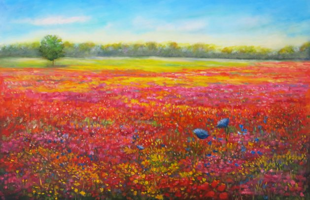 Carpet of Flowers. Original art by Maureen Greenwood
