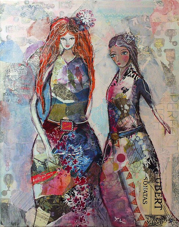 Fashion Queens. Original art by Tracey Unwin