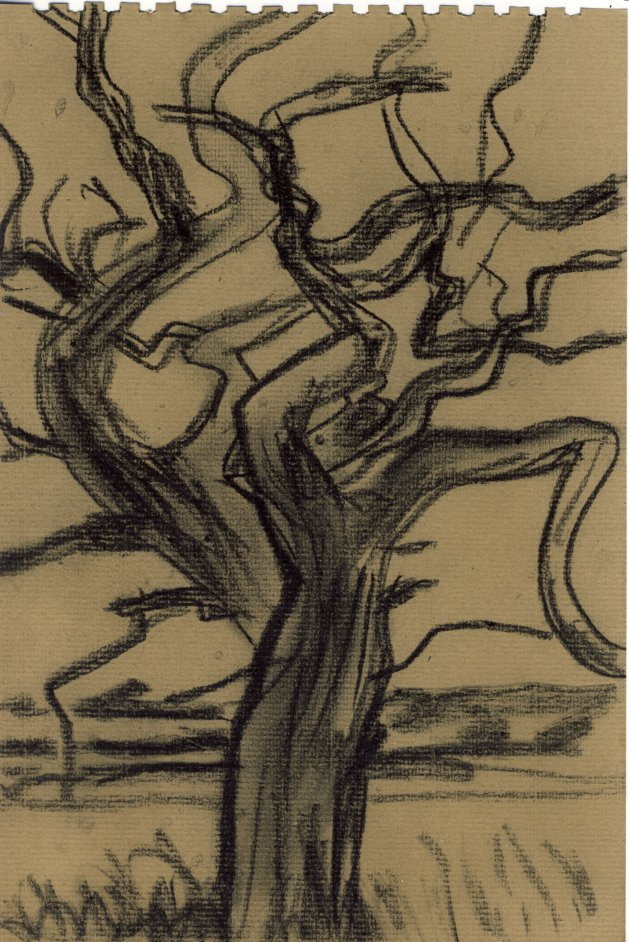 Dead Oak Tree. Original art by M. A. Pioro