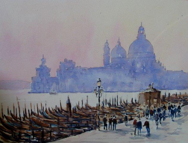 Santa Maria Venice. Original art by Stuart Peters