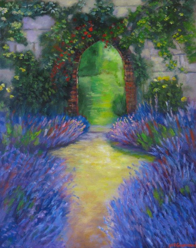 The Lavender Garden. Original art by Maureen Greenwood