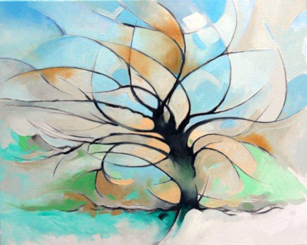 Winter Tree. Original art by Richard Carr