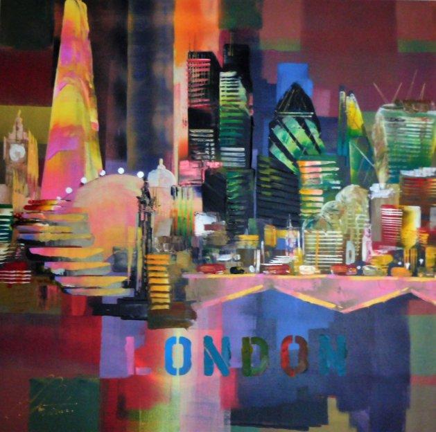 London City Skyline 0151. Original art by Eraclis Aristidou