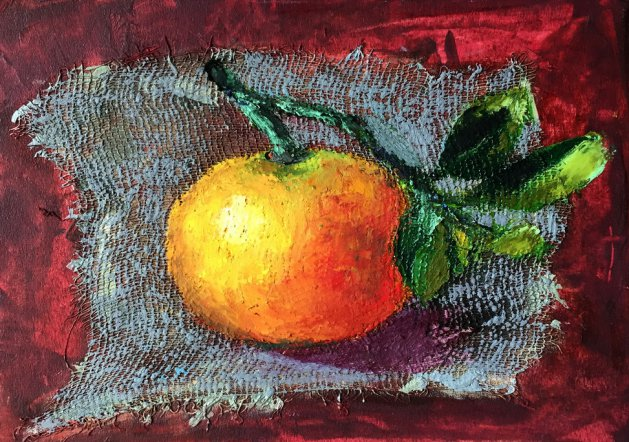 Mandarin. Original art by Alena Rumak