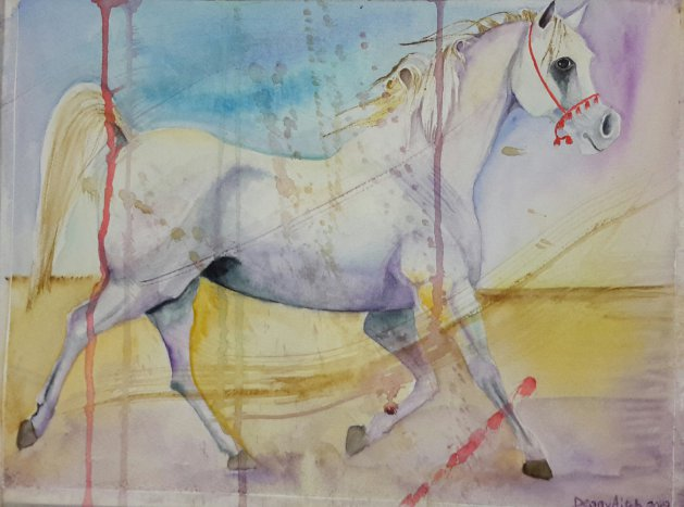 White Horse. Original art by Denny Aitch
