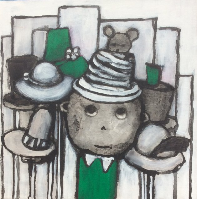 The Mad Hatter. Original art by Lee McConville