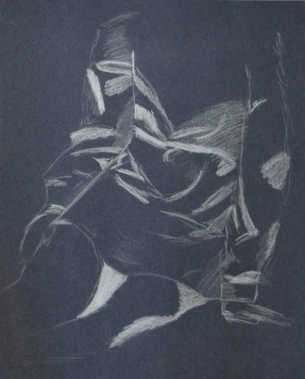 Sketch of female. Original art by Kelly Litherland