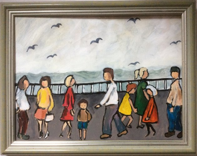 Promenade. Original art by Lee McConville
