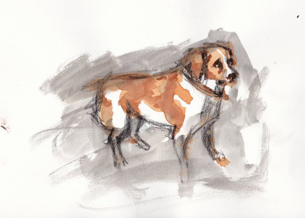 Dog I. Original art by SB Boursot