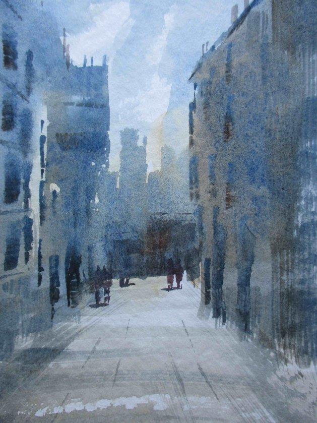 Random Alley View. Original art by Raymond Mcsharry