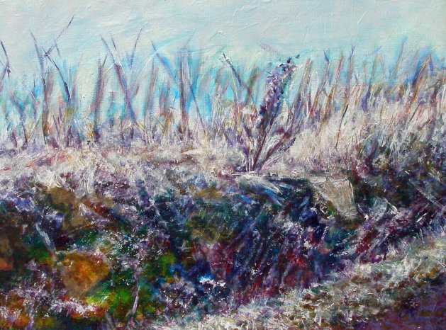 Frosted Vines I. Original art by SB Boursot