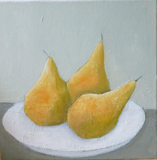 Winter Pears. Original art by Fiona Philipps