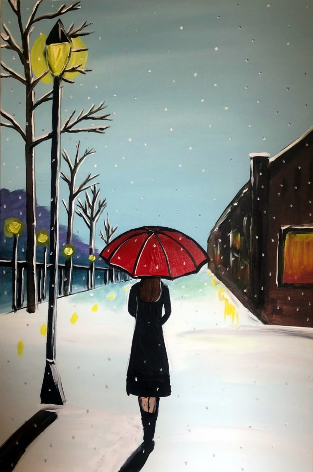 A Winters Evening 3. Original art by Aisha Haider