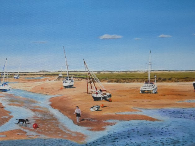 Wells -next-the sea.. Original art by Philip Smith