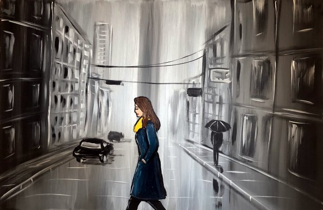 City Walk 2. Original art by Aisha Haider