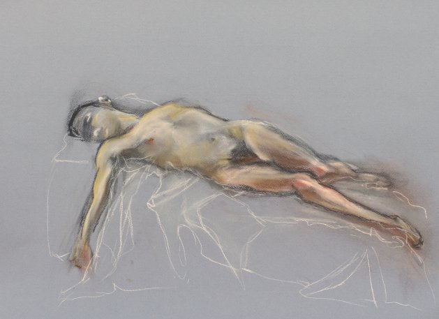 Nude Supine 2019. Original art by SB Boursot