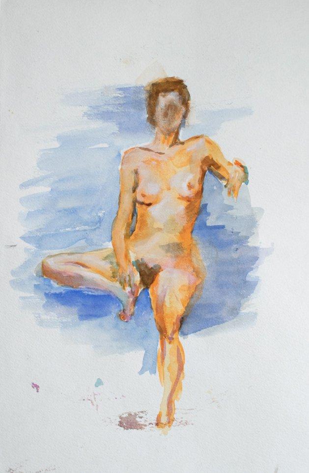 Nude  2018. Original art by Sophia Branson