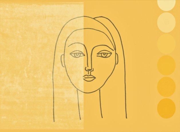 Femme Sunset. Original art by Debby Haime