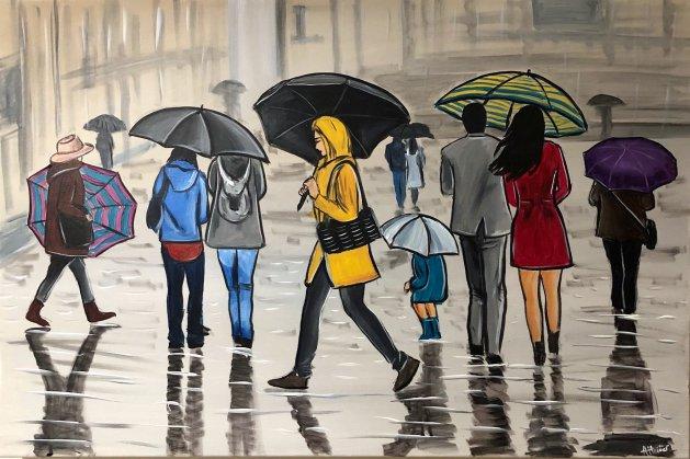 The City Rain. Original art by Aisha Haider