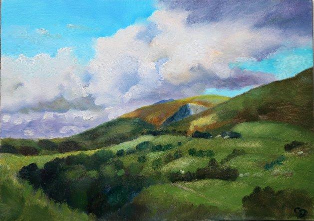 Near Threlkeld, Cumbria. Original art by Christine Derrick