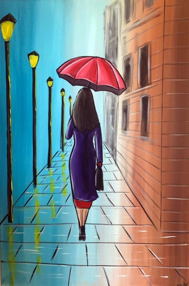Umbrella Lady 5. Original art by Aisha Haider