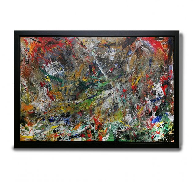 Original Abstract Painting - Chaos 1. Original art by Peter Taylor