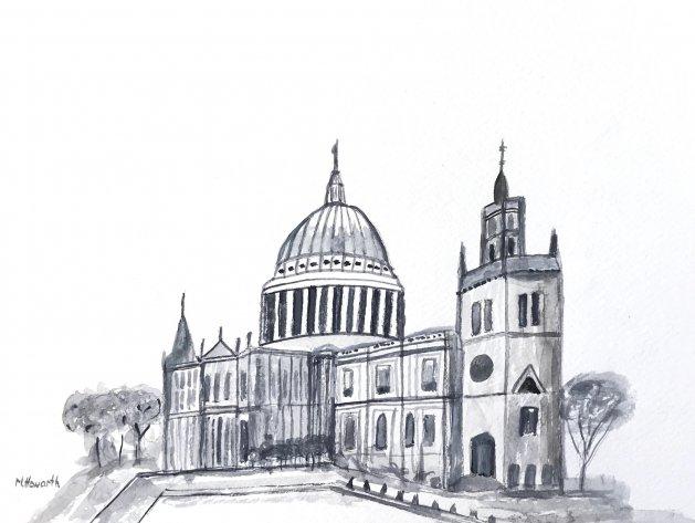 London. Original art by Monika Howarth