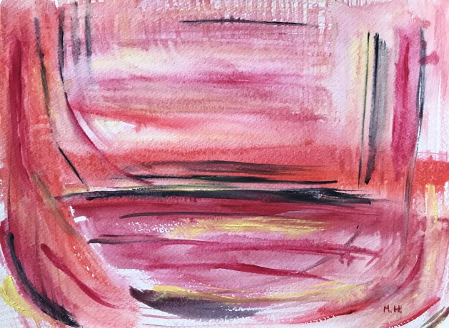Pink abstract. Original art by Monika Howarth