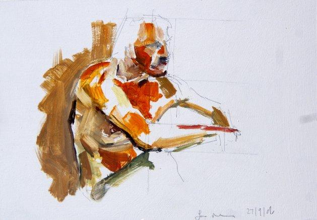 Life Study No 47. Original art by Ian McKay