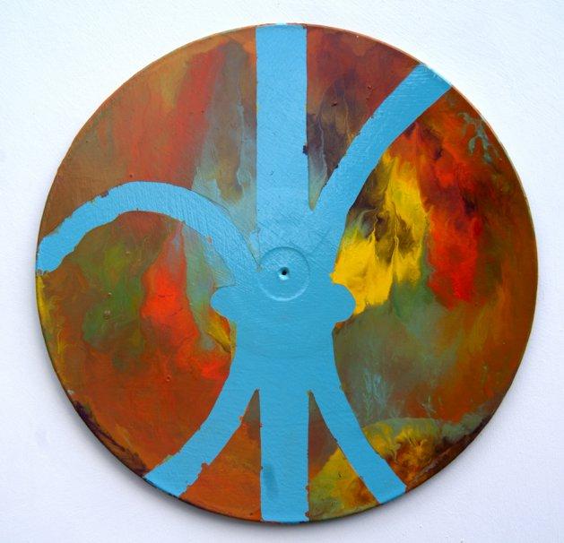 Bandstand -Vinyl Painting No 4. Original art by Ian McKay