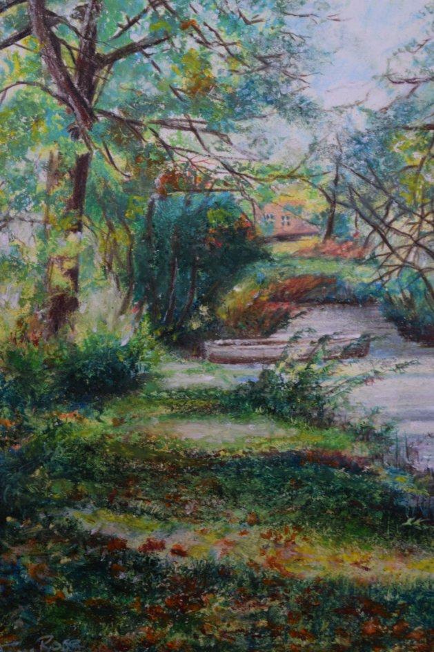 Fairhaven water garden. Original art by Anthony Rose