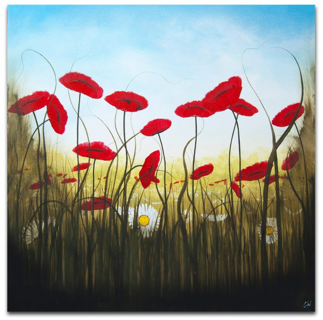Ether Poppies. Original art by C.A. Wood