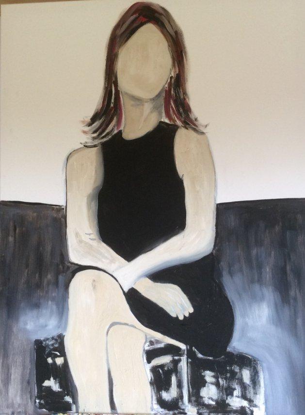 Alone. Original art by Alison Baxter