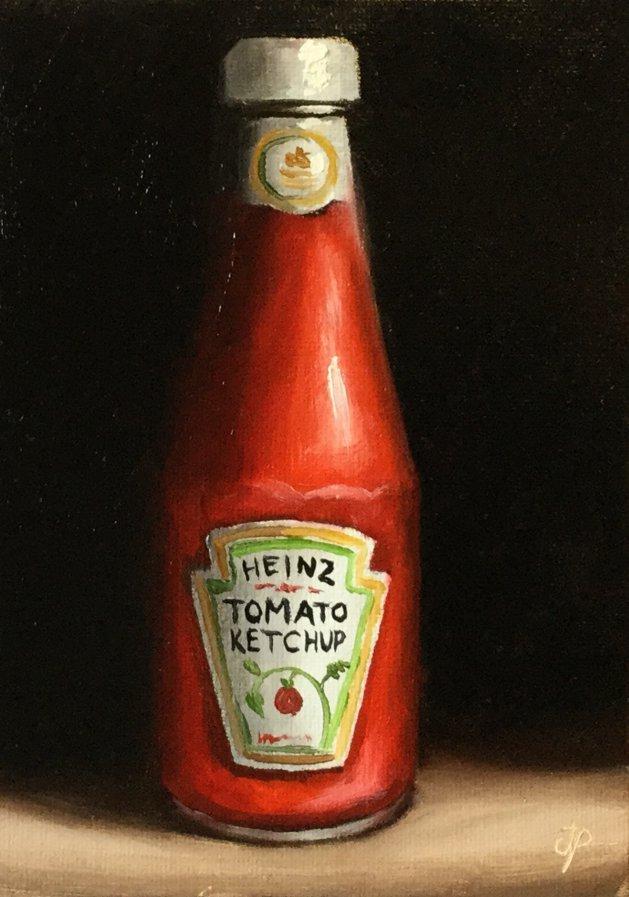 Tomato ketchup. Original art by Jane Palmer
