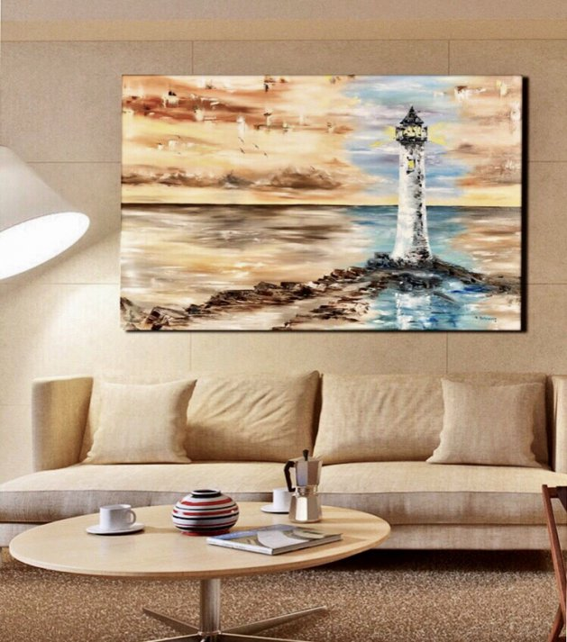 Lighthouse colored. Original art by Tanya Stefanovich