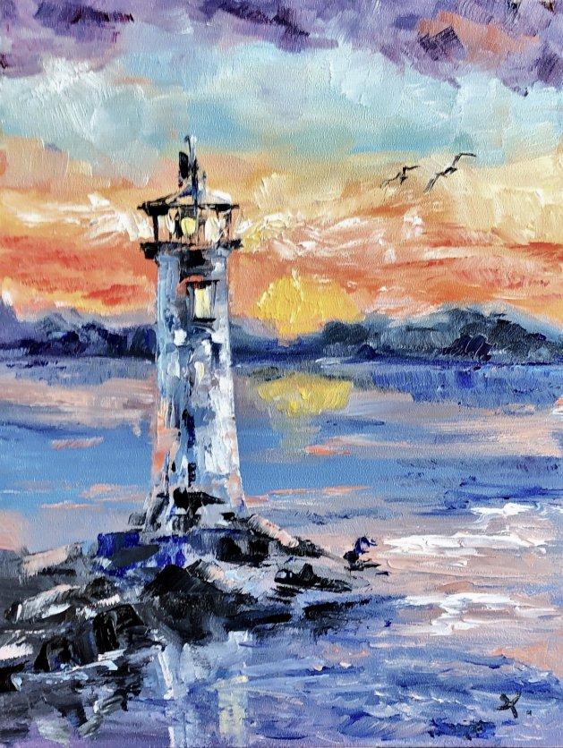 Lighthouse 8*6. Original art by Tanya Stefanovich